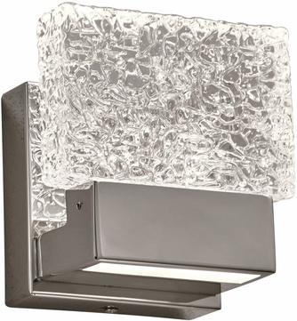 PLC 84411PC Ombrelle Contemporary Polished Chrome LED Wall Sconce Light