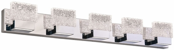 PLC 84415PC Ombrelle Modern Polished Chrome LED 5-Light Bathroom Sconce Lighting