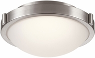 PLC 84451SN Corso Contemporary Satin Nickel LED Flush Mount Lighting Fixture