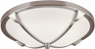 PLC 84457SN Adivina Contemporary Satin Nickel LED 16  Flush Mount Ceiling Light Fixture