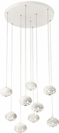 PLC 84469WH Rosini Modern White LED Multi Pendant Lighting Fixture