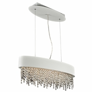 PLC 87812WH Galoga White Island Light Fixture