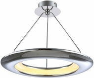 PLC 88808PC UFO Contemporary Polished Chrome LED Pendant Lighting Fixture