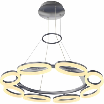PLC 88815PC Colino Contemporary Polished Chrome LED Hanging Pendant Lighting