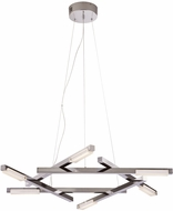 PLC 88833PC Lucette Contemporary Polished Chrome LED Hanging Pendant Light