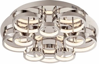 PLC 88835PC Lukko Modern Polished Chrome LED Ceiling Lighting
