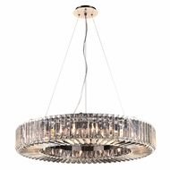 PLC 90045PC Marquee Polished Chrome Drum Ceiling Light Pendant