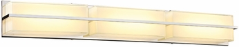 PLC 90054PC Tazza Contemporary Polished Chrome LED 36  Bath Wall Sconce
