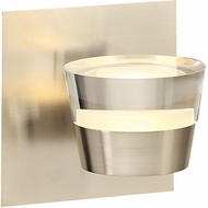 PLC 90061SN Sitra Contemporary Satin Nickel LED Wall Sconce Lighting