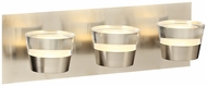 PLC 90063SN Sitra Modern Satin Nickel LED 3-Light Bathroom Light Sconce