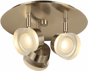 PLC 90068SN Sitra Modern Satin Nickel LED Flush Lighting