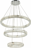 PLC 90073PC Equis Polished Chrome LED Hanging Pendant Light