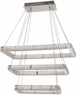 PLC 90078PC Equis Polished Chrome LED Kitchen Island Light Fixture