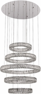 PLC 90079PC Equis Polished Chrome LED Multi Pendant Hanging Light