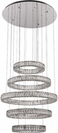 PLC 90079PC Equis Contemporary Polished Chrome LED Chandelier Lighting
