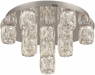 PLC 90100PC Miramar Polished Chrome LED Ceiling Light Fixture