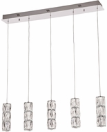 PLC 90105PC Miramar Polished Chrome LED Multi Drop Ceiling Lighting