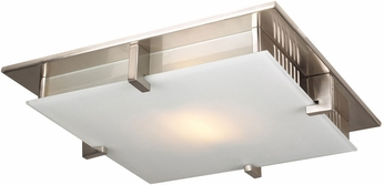 PLC 904SNLED Polipo Modern Satin Nickel LED 8  Flush Mount Light Fixture