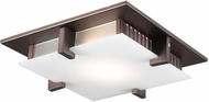 PLC 906ORBLED Polipo Contemporary Oil Rubbed Bronze LED 12 Flush Mount Lighting Fixture