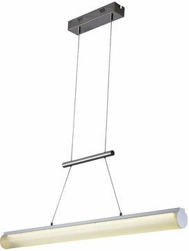 PLC 91119PC Aviva Contemporary Polished Chrome LED Kitchen Island Lighting