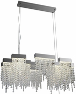 PLC 91136PC Camelot Polished Chrome LED Kitchen Island Light