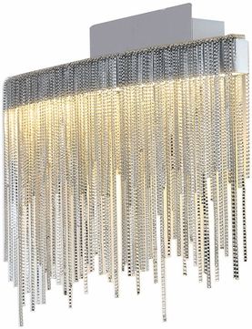 PLC 91158PC Davenport Contemporary Polished Chrome LED Wall Light Sconce