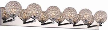 PLC 92706PC Alexa Polished Chrome LED 6-Light Bathroom Vanity Light