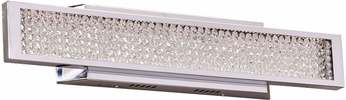 PLC 92956PC Commodore Contemporary Polished Chrome LED 24  Vanity Light