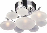 PLC 96940PC Comolus Contemporary Polished Chrome Halogen Ceiling Lighting Fixture