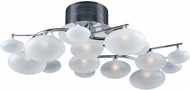 PLC 96942PC Comolus Modern Polished Chrome Halogen Ceiling Light Fixture