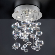 PLC 96962-PC Bubbles Modern Flush-Mount Ceiling Light - 20 inches long