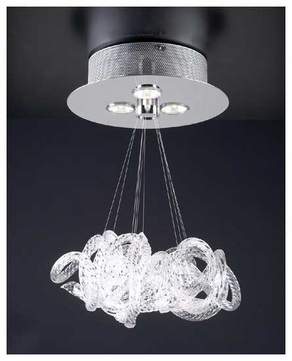 PLC 96973PC Elegance 3-light Contemporary Chandelier Small