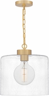Quoizel ABR1512AB Abner Modern Aged Brass Mini Drop Lighting