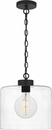 Quoizel ABR1512MBK Abner Contemporary Matte Black Mini Ceiling Light Pendant
