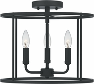 Quoizel ABR1714MBK Abner Contemporary Matte Black Flush Mount Lighting Fixture