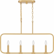 Quoizel ABR432AB Abner Contemporary Aged Brass Island Lighting