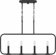 Quoizel ABR432MBK Abner Modern Matte Black Kitchen Island Light