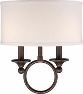 Quoizel ADA8702LN Adams Leathered Bronze Wall Sconce