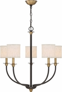 Quoizel ADY5005OZ Audley Old Bronze Chandelier Lighting
