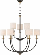 Quoizel ADY5009OZ Audley Old Bronze Lighting Chandelier