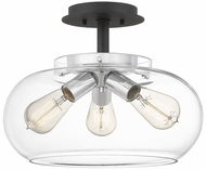Quoizel ANW1714EK Andrews Contemporary Earth Black Ceiling Light Fixture