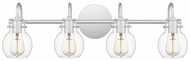 Quoizel ANW8604C Andrews Modern Polished Chrome 4-Light Bath Lighting