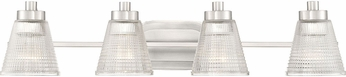 Quoizel ARD8604BN Ardmore Contemporary Brushed Nickel 4-Light Bath Lighting