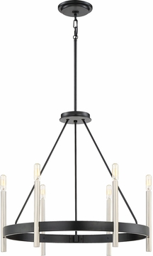 Quoizel ATH5006K Anthem Modern Mystic Black Chandelier Light