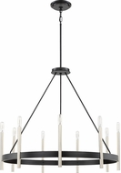 Quoizel ATH5009K Anthem Contemporary Mystic Black Chandelier Lighting