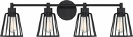 Quoizel ATT8604EK Atticus Contemporary Earth Black 4-Light Bath Lighting