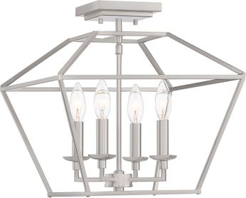 Quoizel AVY1714BN Aviary Brushed Nickel Ceiling Lighting Fixture