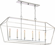 Quoizel AVY654PK Aviary Modern Polished Nickel Island Lighting