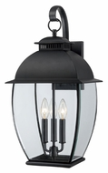 Quoizel BAN8411K Bain Transitional 22 Inch Tall 3 Lamp Outdoor Wall Light - Large