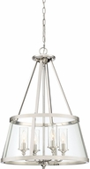 Quoizel BAW1820PK Barlow Contemporary Polished Nickel Pendant Light